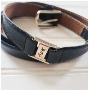 Vintage Yves Saint Laurent Double Hardware Belt